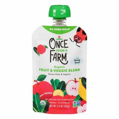 Once Upon a Farm Fruit & Veggie Blend, Green Kale & Apples, Cold-Pressed