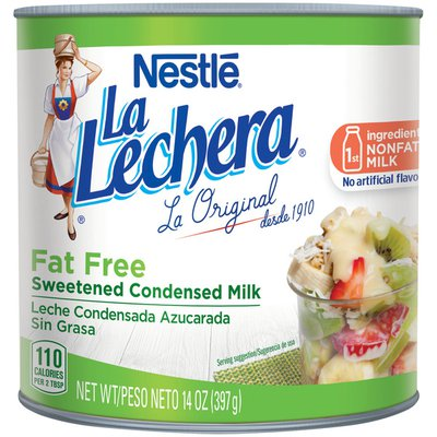 La Lechera Nestle  Fat Free Sweetened Condensed Milk