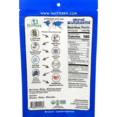 Natierra Organic Freeze-Dried Blueberries