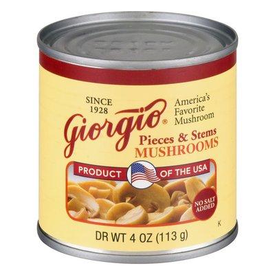 Giorgio Pieces & Stems No Salt Added Mushrooms
