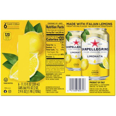 Sanpellegrino Lemon Italian Sparkling Drinks