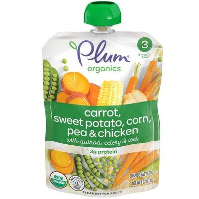 Plum Organics® Stage 3 Carrot, Sweet Potato, Corn, Pea & Chicken Baby Food