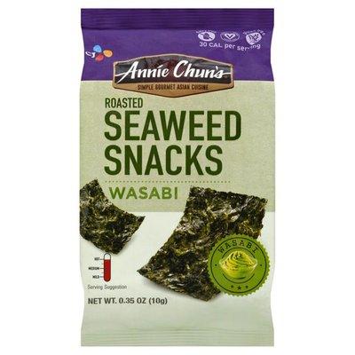 Annie Chun's. Seaweed Snacks, Roasted, Wasabi, Hot