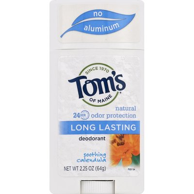 Tom's of Maine Deodorant, Long Lasting, Soothing Calendula