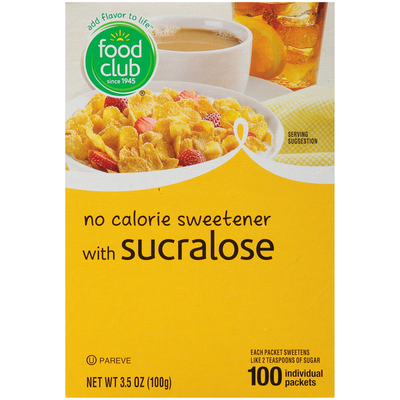 Food Club No Calorie Sweetener With Sucralose