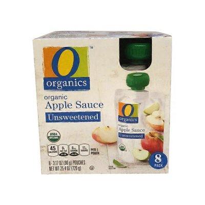 O Organics Apple Sauce, Organic, Unsweetened, 8 Pack