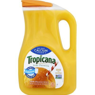 Tropicana No Pulp with Calcium & Vitamin D 100% Orange Juice