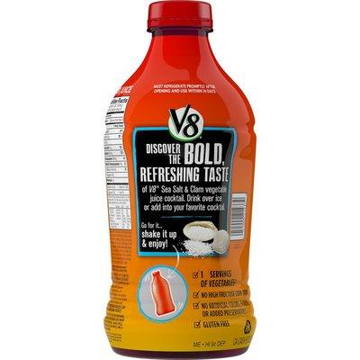 V8® Vegetable Juice Cocktail, Sea Salt & Clam