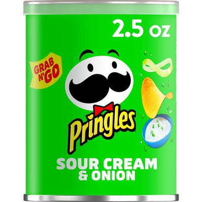 Pringles Potato Crisps Chips, Lunch Snacks, Office and Kids Snacks, Sour Cream and Onion