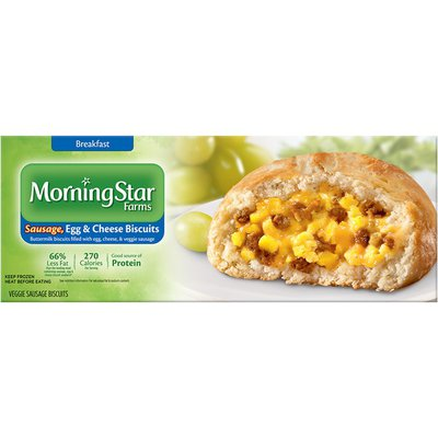 Morning Star Farms Sausage Egg & Cheese Veggie Sausage Biscuits