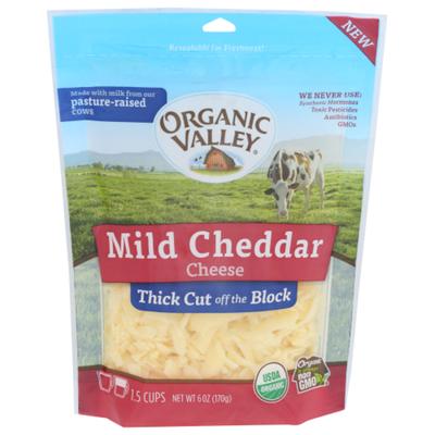 Organic Valley Organic Thick Cut Shredded Mild Cheddar Cheese