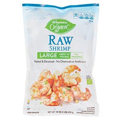 Wegmans Organic Raw Shrimp Large 31/40 Count