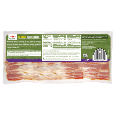 Applegate Hickory Smoked No Sugar Uncured Bacon