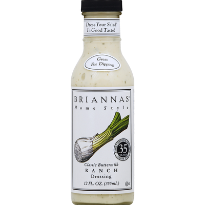 Briannas Dressing Dressing, Classic Buttermilk Ranch, Home Style