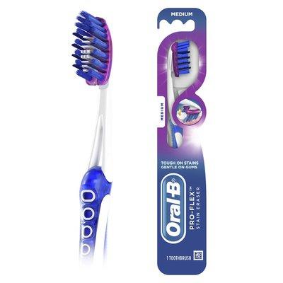 Oral-B 3D White Luxe Pro-Flex Manual Toothbrush, Medium Bristles