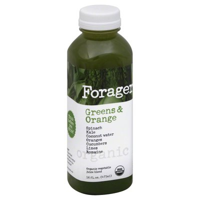 Forager Drink, Green & Orange, Fast Slow Food, Organic, Bottle