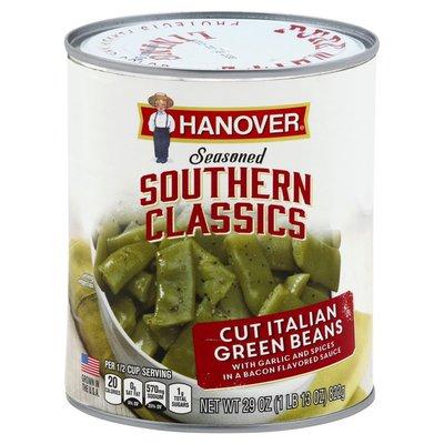 Hanover Green Beans, Cut Italian, Seasoned Southern Classics