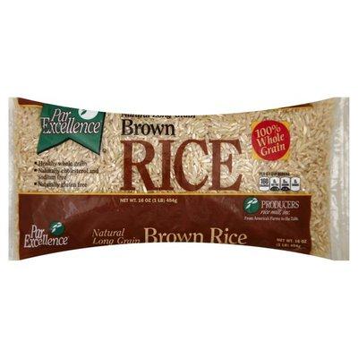 Par Excellence Rice, Brown, Natural, Long Grain