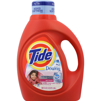 Tide Detergent, Plus a Touch of Downy, HE, April Fresh