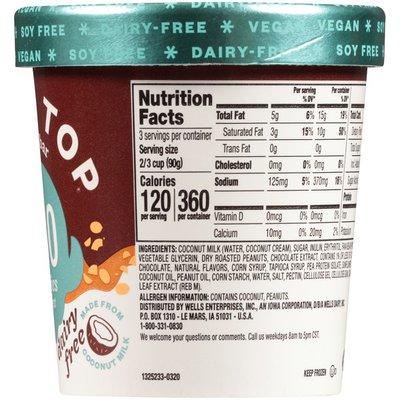 Halo Top Creamy Non-Dairy Vegan Candy Bar Frozen Dessert Pint