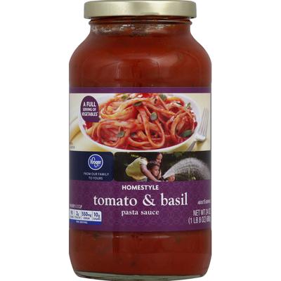 Kroger Pasta Sauce, Homestyle, Tomato & Basil