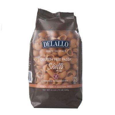 DeLallo Gluten Free Pasta Whole Grain Rice Shells