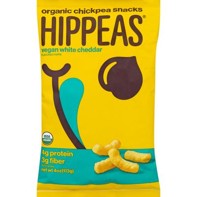 Hippeas Organic Chickpea Puffs, Vegan White Cheddar