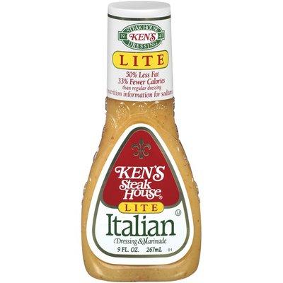 Ken's Steak House Dressing & Marinade, Lite, Italian