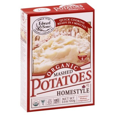 Edward & Sons Organic Mashed Potatoes Home Style