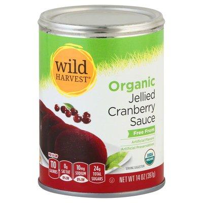 Wild Harvest Cranberry Sauce, Organic, Jellied