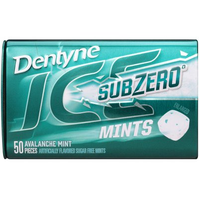 Dentyne Sub Zero Avalanche Mint Sugar Free Mints
