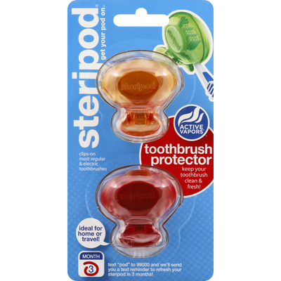 Steripod Toothbrush Protector, Active Vapors