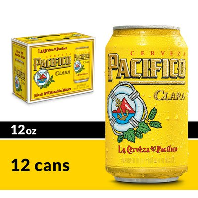 Pacifico Clara Mexican Lager Beer Cans
