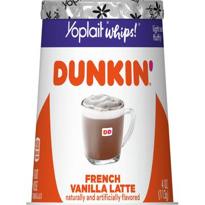 Yoplait Whips! Dunkin' French Vanilla Latte Yogurt Mousse
