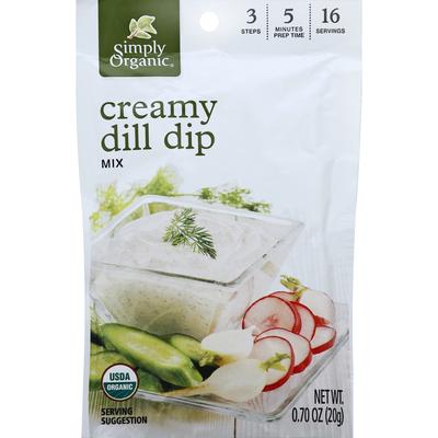 Simply Organic Dip Mix, Creamy Dill