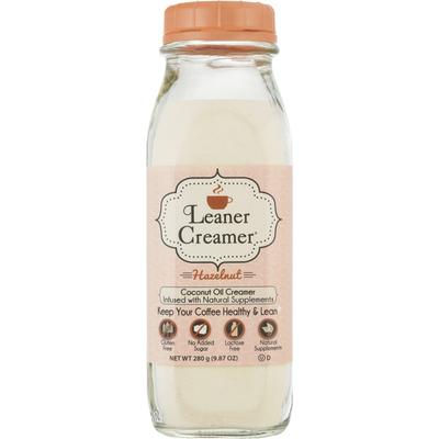 Leaner Creamer Coconut Oil Creamer, Hazelnut
