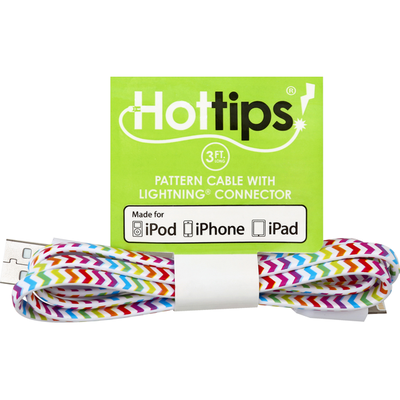 Hottips Pattern Cable, with Lightning Connector, 3 Foot