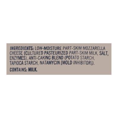 Lucerne Shredded Cheese, Part-Skim, Mozzarella, Low-Moisture