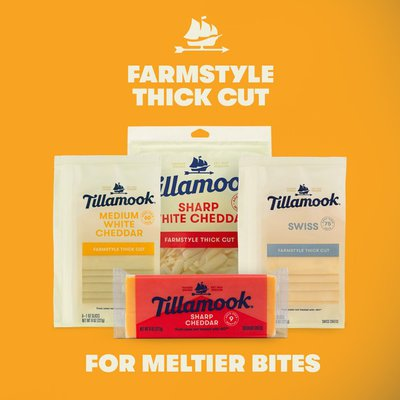 Tillamook Farmstyle Thick Cut Swiss Cheese Slices