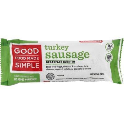 Good Food Made Simple Turkey Sausage Burrito