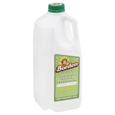 Borden Buttermilk, Cultured, Fat Free