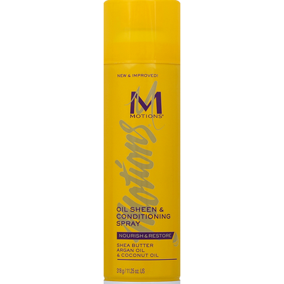 Motions Oil Sheen & Conditioning Spray, Nourish & Restore