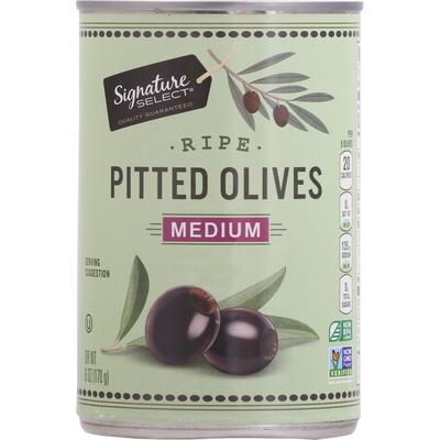 Signature Kitchens Olives, Ripe, Pitted, Medium