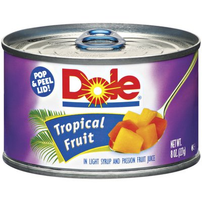 DOLE In Light Syrup & Passion Fruit Juice Tropical Fruit