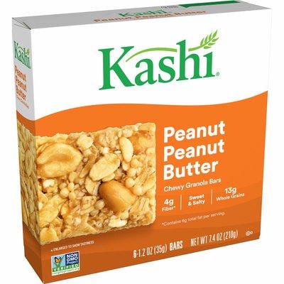 Kashi Chewy Granola Bars, Fiber Bars, Peanut Peanut Butter