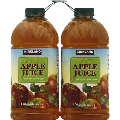 Kirkland Signature Apple Juice, 2 x 1 gal
