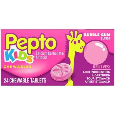 Pepto-Bismol Kid'S Bubblegum Flavor Chewables For Heartburn, Acid Indigestion