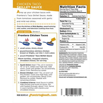 Frontera Foods Chicken Skillet Cooking Sauce