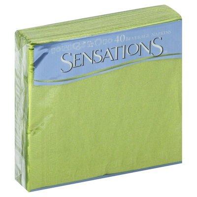 Sensations Napkins, Beverage, Wasabi Green