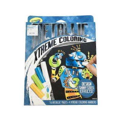 Crayola Coloring Pages & Markers Set, Metallic